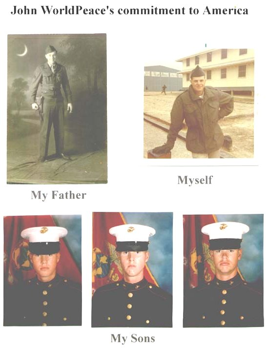 [WorldPeace, Father, Sons as Veterans]